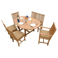 Bahama 7 Piece Dining Set in Natural