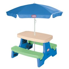 Easy Store Picnic Table & Umbrella in Blue