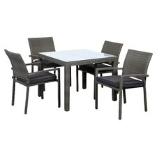 Atlantic Liberty 5 Piece Dining Set in Grey