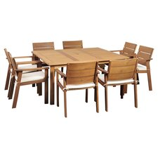 Amazonia Solid Teak 9 Piece Dining Set