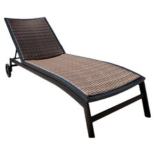 Zen Chaise Lounger in Black & Natural