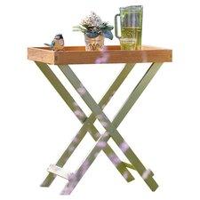 Florenity Side Table in Teak & Green