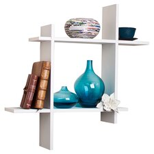 Ridge Floating Wall Shelf in Matte White
