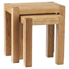 Block 2 Piece Nest of Tables in Oak
