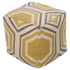 Contempo Pouf in Parsnip & Lavender Gray