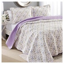 Laura Ashley Spring Bloom Quilt Set in Purple
