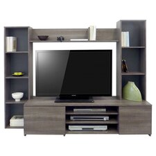 Link Entertainment Centre in Liquorice Oak