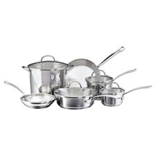 Farberware Millennium 10 Piece Cookware Set in Stainless Steel