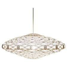Shayk 1 Light Pendant in White