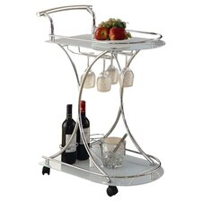 Whisper Serving Cart in Chrome