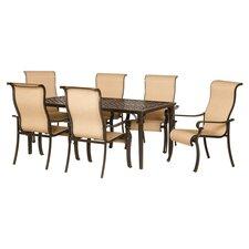 Brigantine 7 Piece Dining Set in Brown
