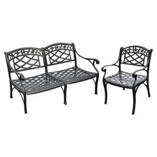 Sedona 2 Piece Lounge Seating Group in Charcoal Black