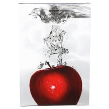Red Apple Splash Canvas Art by Roderick Stevens