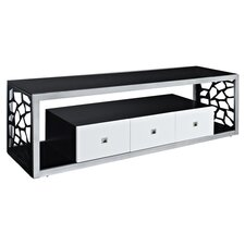 """Modern Mosaic 70"""" TV Stand in Silver & Black"""