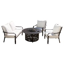 Calabria 4 Piece Dining Set in Bronze
