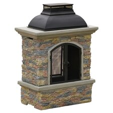 Barbados Chiminea in Natural Stone