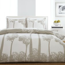 Tree Top Duvet Set in Beige