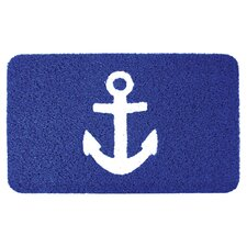 Kikkerland Anchor Doormat in Blue