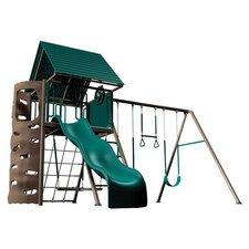Earthtone Play & Swing Set in Green & Tan
