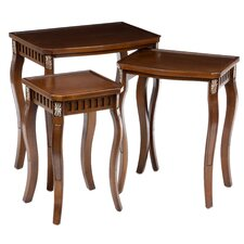 Fielding 3 Piece Nesting Table Set in Warm Brown