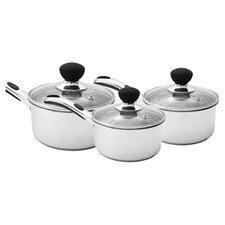 6 Piece Saucepan Set in White