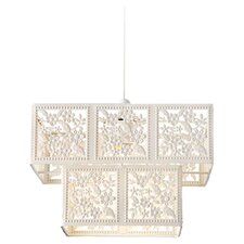 Albany 1 Light Pendant in Pearl White