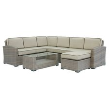 Ferrara 7 Piece Seating Group in Taupe with Taupe Cushions