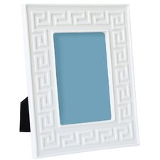 Charade Greek Picture Frame in White