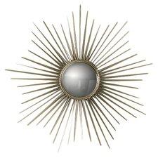 Mini Sunburst Mirror in Brass