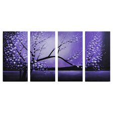 Winter Solstice 4 Panel Canvas Art