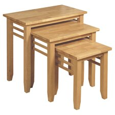 Athens 3 Piece Nest of Tables in Light Oak