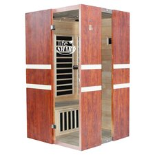 EuroStyle 2 Person Carbon FAR Infrared Sauna in Mahogany