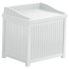 Lincoln Deck Storage Seat in White