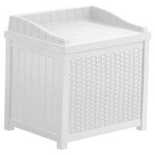 Suncast Deck Storage Chair in White
