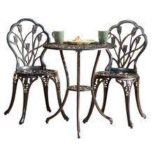 Bradley 3 Piece Bistro Set in Dark Bronze