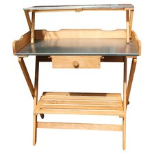 Folding Potting Bench in Natural