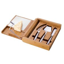 Soirée 4 Piece Cheese Cutting Board Set in Natural