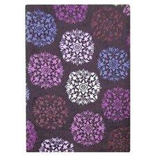 Starburst Purple 183 cm x 123 cm Rug