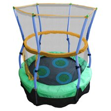 "Lily Pad Adventure 40"" Bouncer Trampoline & Enclosure Set in Green"