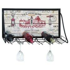 Vintage Vineyard 6 Bottle Wine Rack in Black