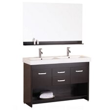 "Citrus 48"" Double Vanity Set in Espresso"