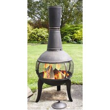 Tuscan Glo Chiminea in Antique Bronze
