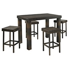 Napa 5 Piece Counter Height Dining Set in Brown