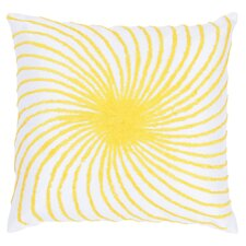 Sunburst Throw Pillow in White & Yellow
