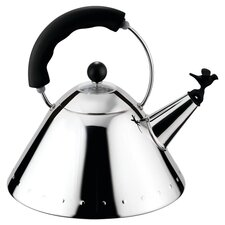 Signature Whistle Tea Kettle in Steel & Black