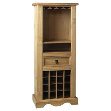 Corona 16 Bottle Wine Cabinet in Dark Pine