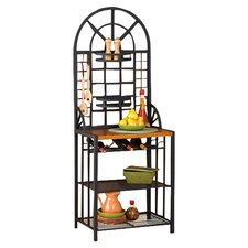 Heights Steel Baker's Rack in Black
