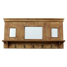 Layla Picture Frame 5 Hook Shelf in Natural