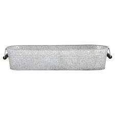 Old Zinc Trug in Silver
