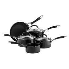 Inspire 8 Piece Nonstick Cookware Set in Black